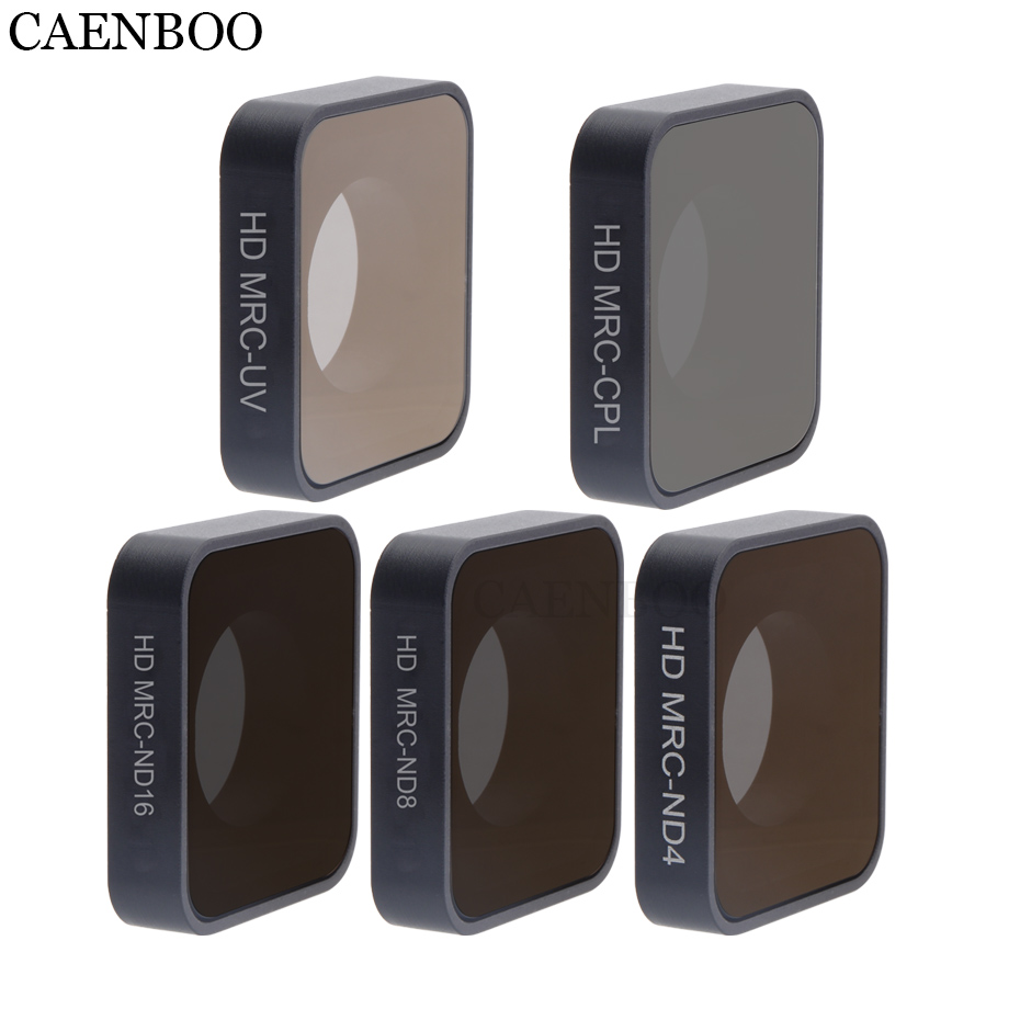 CAENBOO Action Camera Filter Neutral Density CPL Polar Polarizing Waterproof Outdoor Glass Diving For Gopro Hero 6/5 Black 2018 f88 action camera black