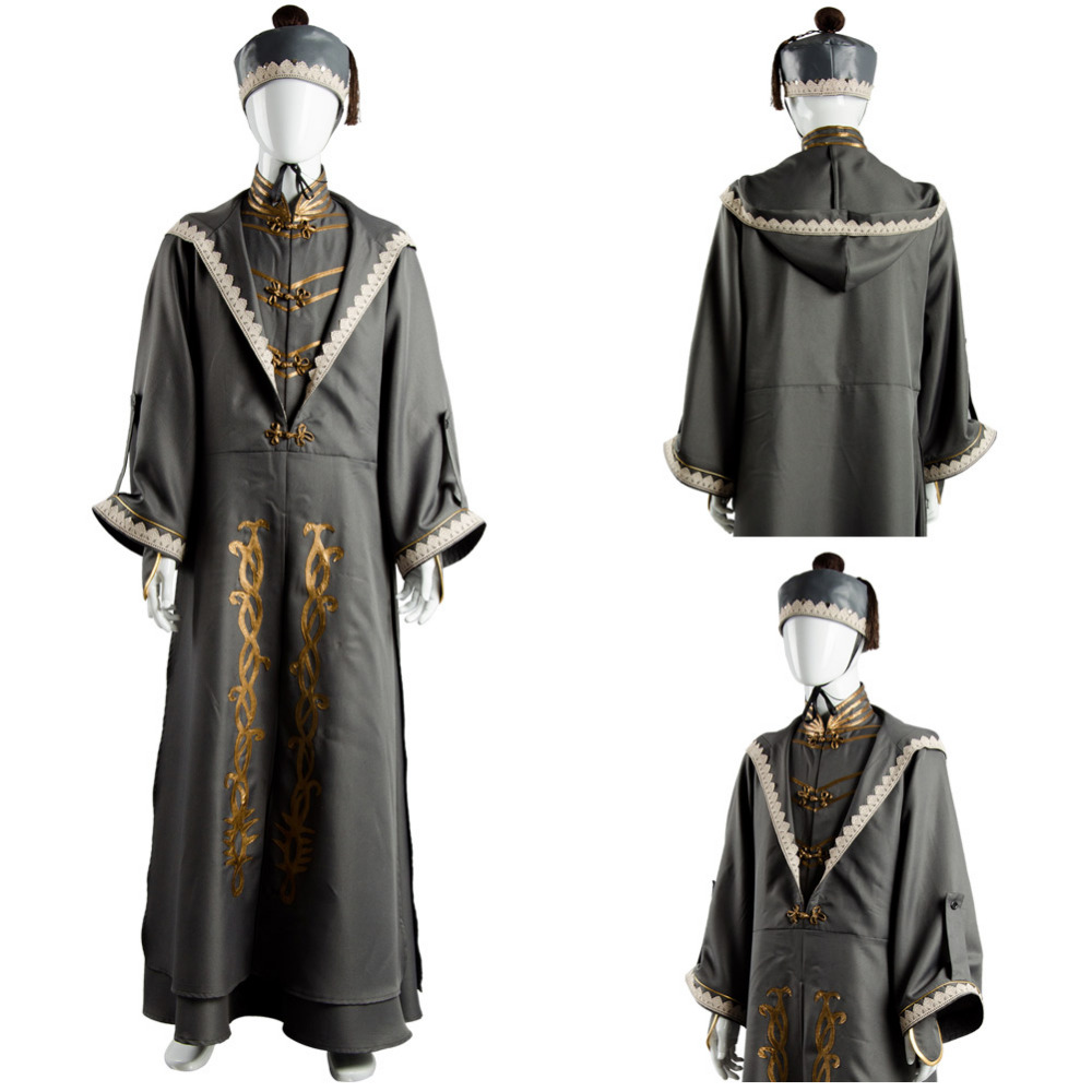 Albus Dumbledore Cosplay Costume Robe Adult Halloween Carnival Costume with Hat
