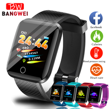BANGWEI 2019 New Smart Watch Men Blood Pressure Heart Rate Monitor Fitness tracker Multifunction Sport watch Wristband+Box