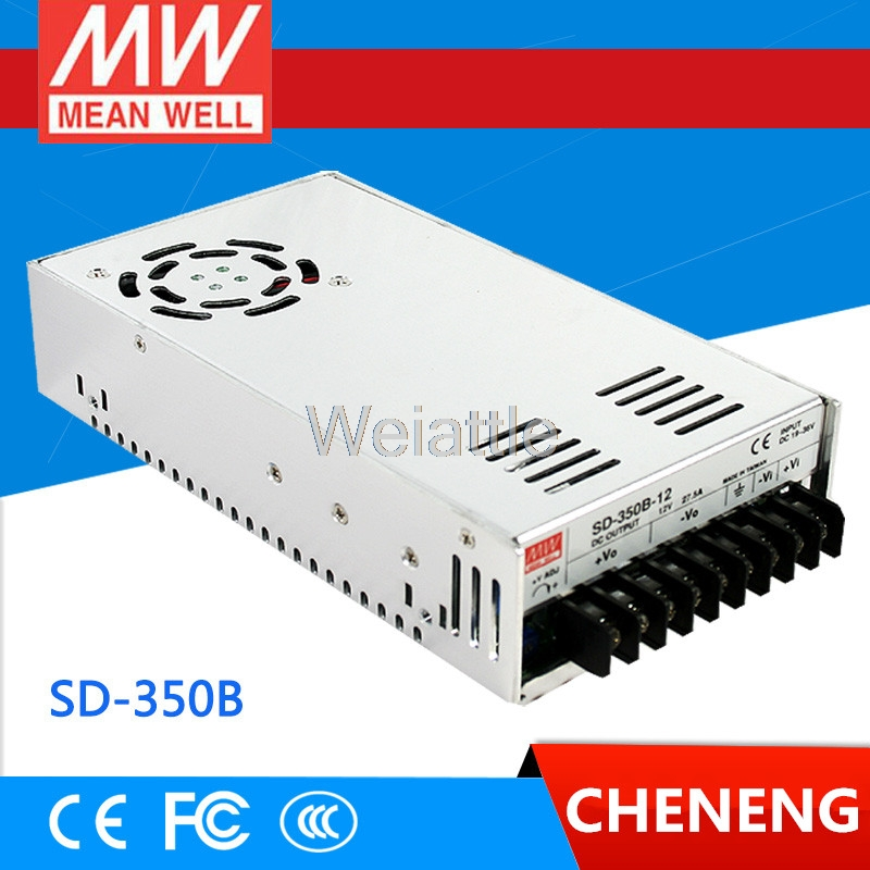 MEAN WELL original SD-350B-24 24V 14.6A meanwell SD-350 24V 350.4W Single Output DC-DC Converter selling hot mean well sd 350b 24 24v 14 6a meanwell sd 350 24v 350 4w single output dc dc converter