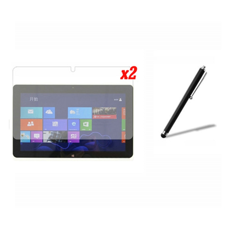 3in1 2x Clear LCD Screen Protector Films De Protection Film Gardes + 1x Stylet Pour Acer Iconia Tab 10.1 W510 W511 10.1 Tablet