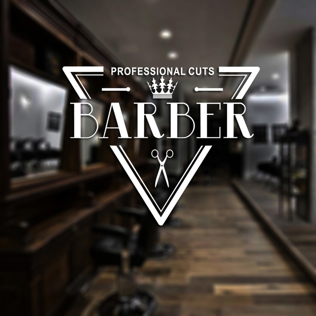 dctal man barber shop sticker name bread decal haircut shavers crown