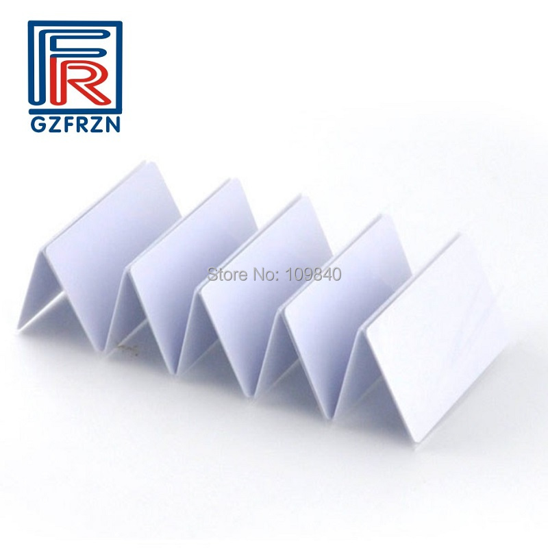 10pcs 13.56mhz PVC blank white RFID card with FM11FR08 chip for access control system