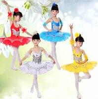 Children Ballet Tutu Dance Dress Kids Ballet Princess Dance Costume Sequins Professional Girls Gymnastics Leotard Dance