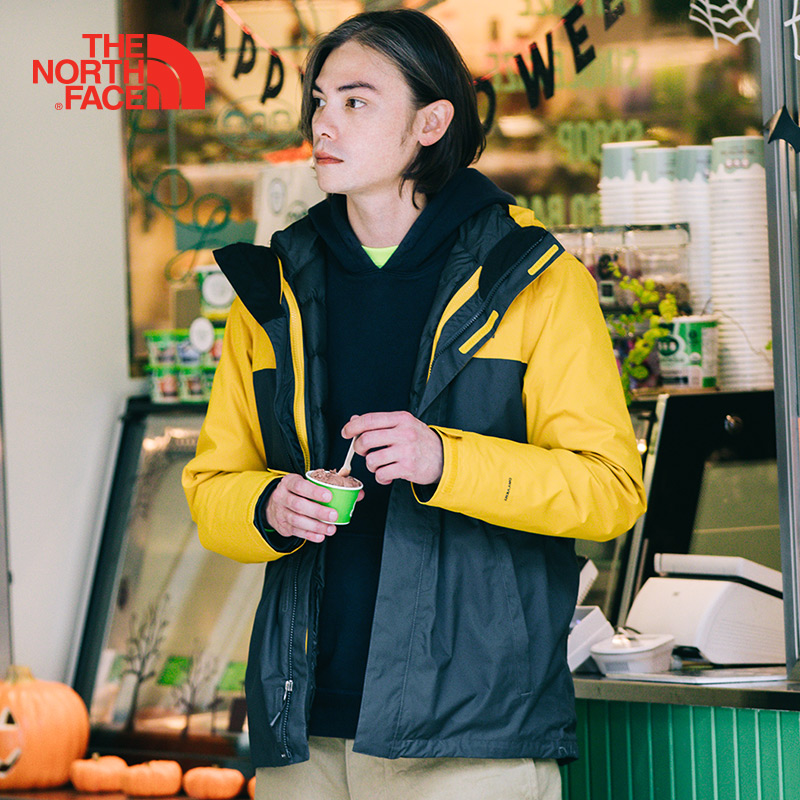 The North Face Hiking Down Jacket Men Three In One Breathable Waterproof Windproof Camping Winter Thermal Sports Down Coats 3CGM