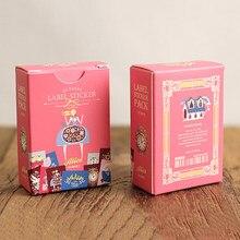 48 pçs/caixa criativo matchbox papel adesivo adesivo alice série etiqueta adesivos decorativos cozimento adesivo presente de natal
