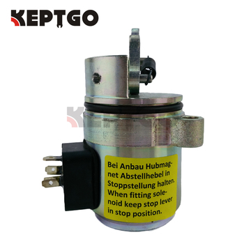 Fuel shut off solenoid 04272733 / 0427 2733 12V For DEUTZ 1011 863 864 873 874 S250 T200 A300 Bobcat