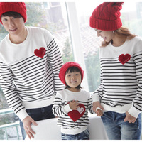 New 2014 Fashion Family Pack Set Father And Son Cotton T Shirt Clothes Mother And Child