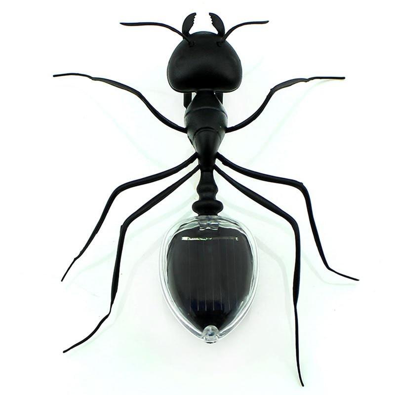 1PC Trick Toys Solar Ant Power Robot Toy Bug Solar Energy Powered Toy Mini Kit Novelty Kid Children Gadget Toys