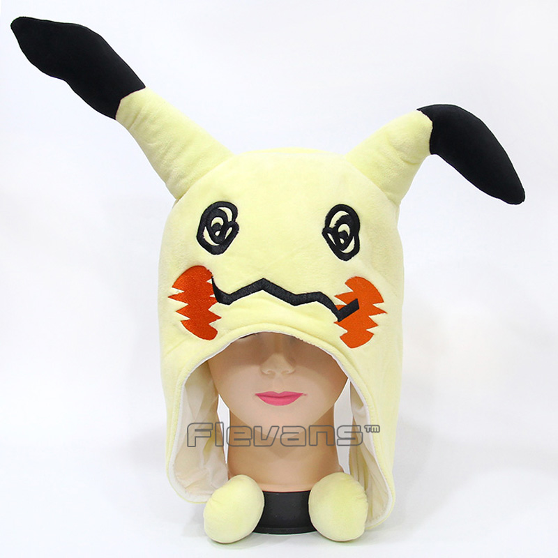 Anime Cartoon Cute Mimikyu Plush Hat Soft Stuffed Animal Toy 33x18cm 10pcs lot