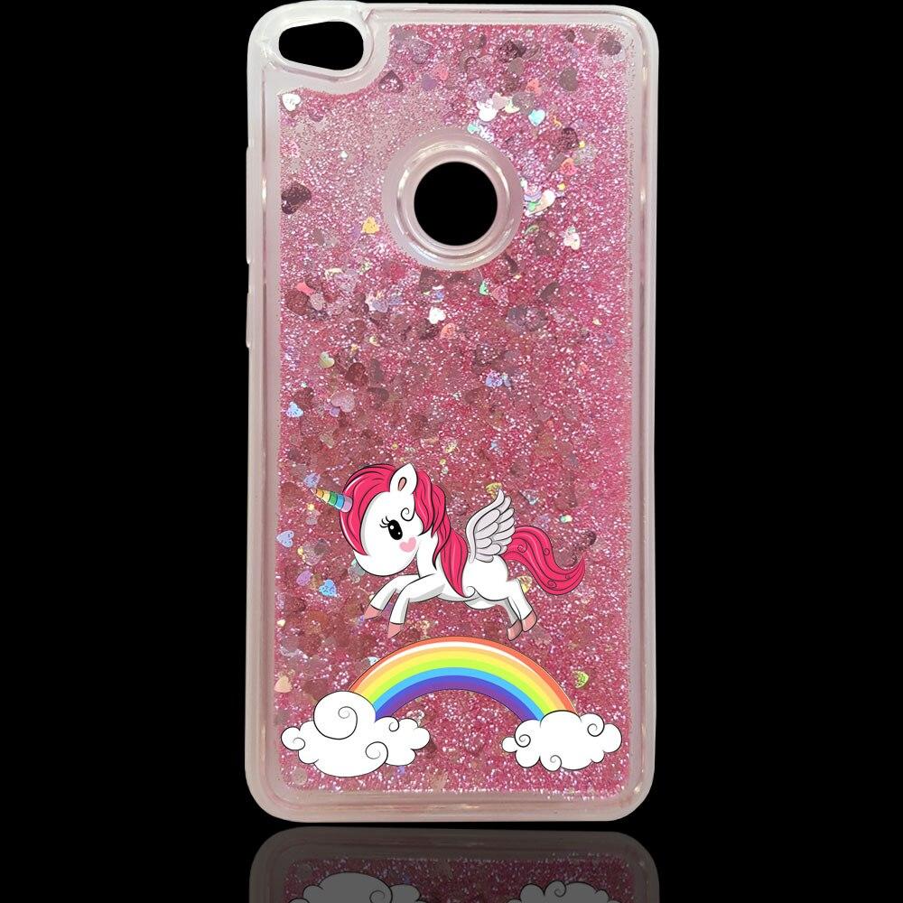 Liquid Water Phone Case For Huawei P8/P9/P10 LITE Plus/Honor 8/6A/9/6X/7X/NOVA PLUS Maimang5 Unicorn Glitter Star TPU Cover