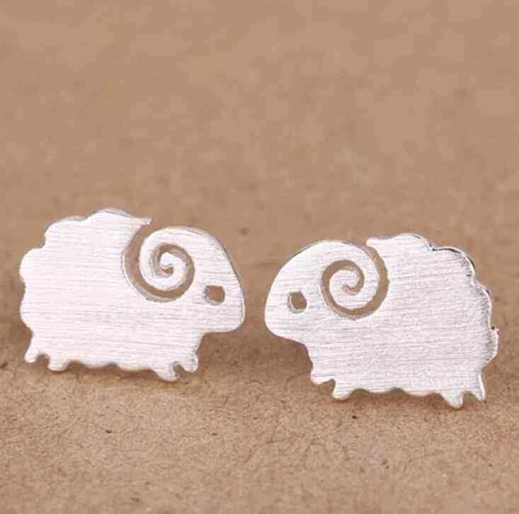 SMJEL новые модные аксессуары для ювелирных изделий милые маленькие матовые нежные серьги-клипсы в форме овец для женщин животные свадебные подарки