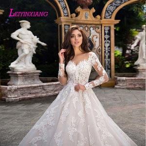 Image 3 - LEIYINXIANG Wedding Dress Vestido De Noiva Sereia Robe Sexy Ball Gown Backless Luxury Bride Dress Elegant Appliques Sweetheart
