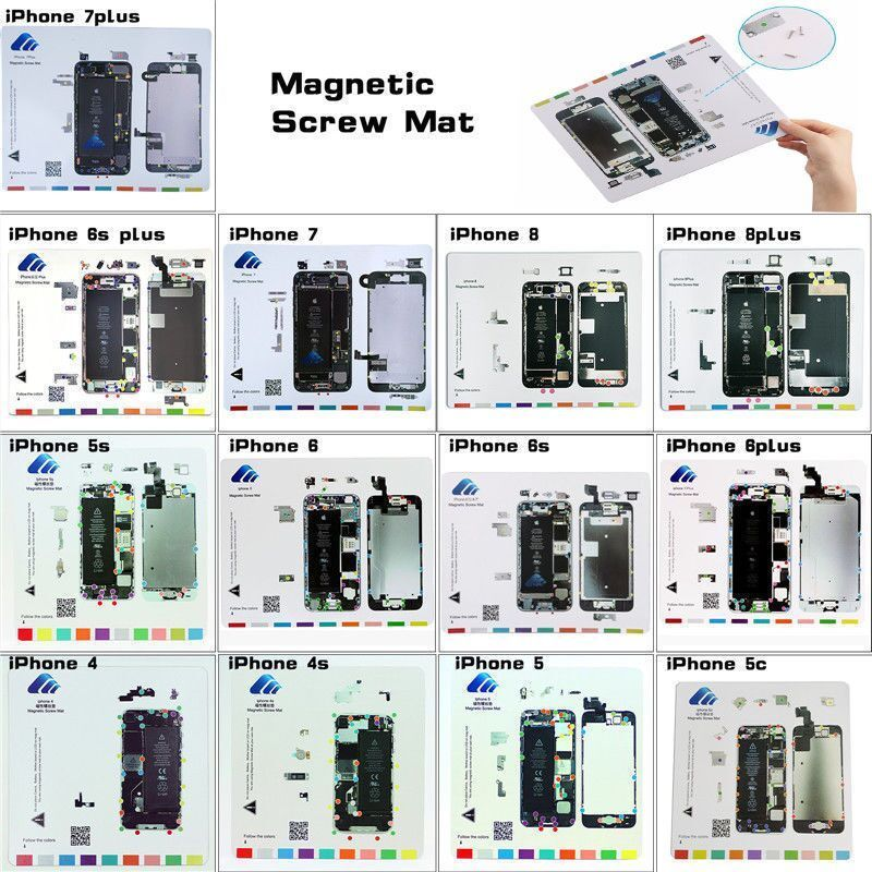 Magnet Repair Tools Guide Pad Screw Keeper Chart Mat For IPhone 5s 6 7 8 Plus X