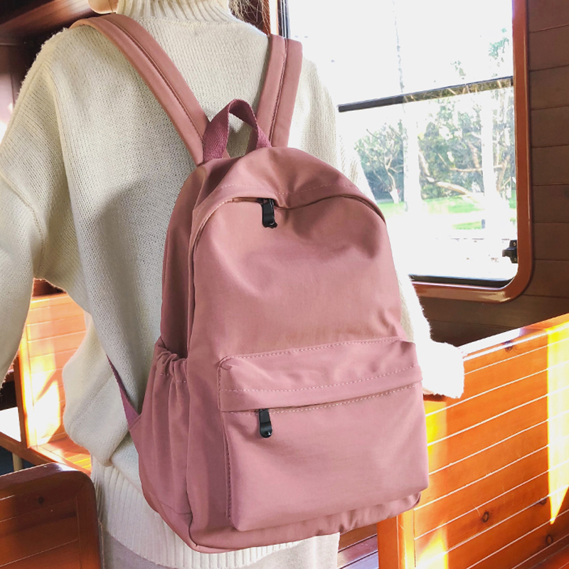 Female Women Backpack For Teenagers Black School Bags Cute Backpacks Nylon Schoolbag Girls Travel Bag Rucksacks Mochila