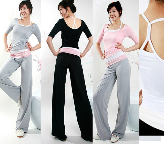 8c346bd655813 2014 new comfy Yoga clothing 3pcs/set gym fitness clothes yoga clothing for women  casual dance clothing Free shipping