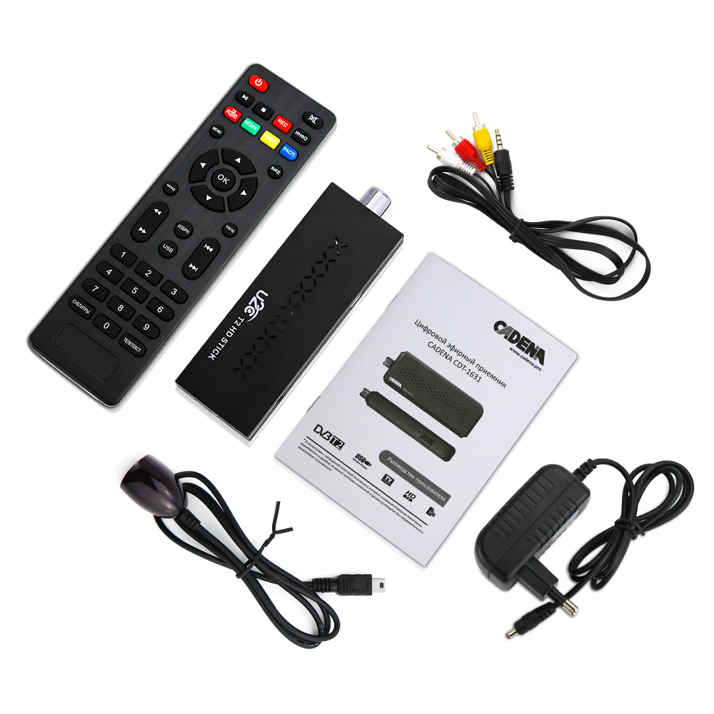 Mini DVBT2 TV-modtager DVB-T2 TV-stødstøtte MP3-MPEG4-format Tv-box Digh Definition Digital Smart Tv-enheder fri til russisk