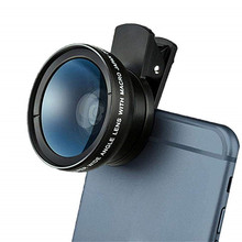 Universal Camera Phone Lens Kit Clip Super Wide Angle 0.45X Macro Lens