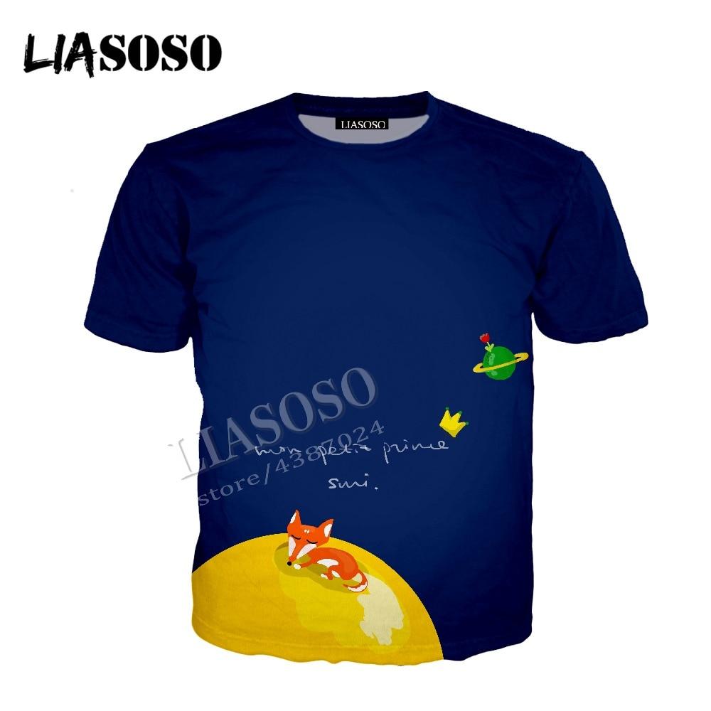 LIASOSO latest 3D printing cozy polyester classic fairy tale zipper hooded little prince simple men women sportswear CX511
