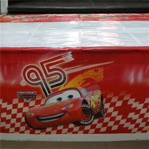 Image 5 - 1pcs 1.08x1.8M Cartoon Cars Theme Party Birthday Disposable Table Cloth Table Cover Map Party Supplies Decoration