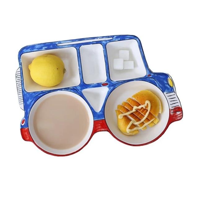 jeep car shape ceramic cartoon children Divided Platter dinnerware dish tableware breakfast plate meal set kids  sc 1 st  AliExpress.com & jeep car shape ceramic cartoon children Divided Platter dinnerware ...