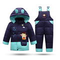Winter coat for Boys Down Padded Parkas 2016 Christmas Gift for Kids Snow Jacket Baby Girls clothing set