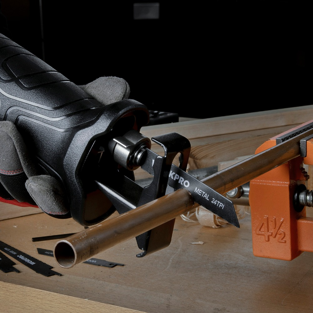 Image 5 - WORKPRO Electric Saw Reciprocating Saw for Wood Metal Cutting DIY Power Saws with Saw Blades-in Electric Saws from Tools on