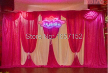 Red party wedding Backdrop Wholesale stage decoration wedding supplies 10ft*20ft Stage Backdrop