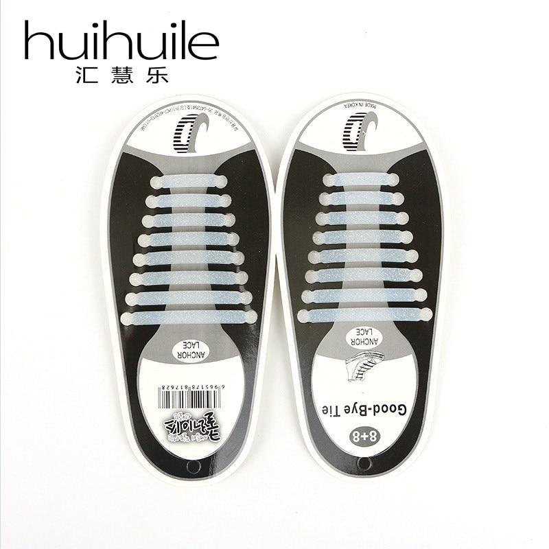 купить 16Pcs/Set Unisex Women Men No Tie Shoelaces Elastic Silicone Shoe Laces Fit All Sneakers 2 Corlors Free Shipping TH-XDZ по цене 384.19 рублей