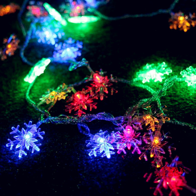 10m snowflower garland led christmas lights outdoor natal led 10m snowflower garland led christmas lights outdoor natal led cristmas decoration led string fairy lights luces mozeypictures Choice Image