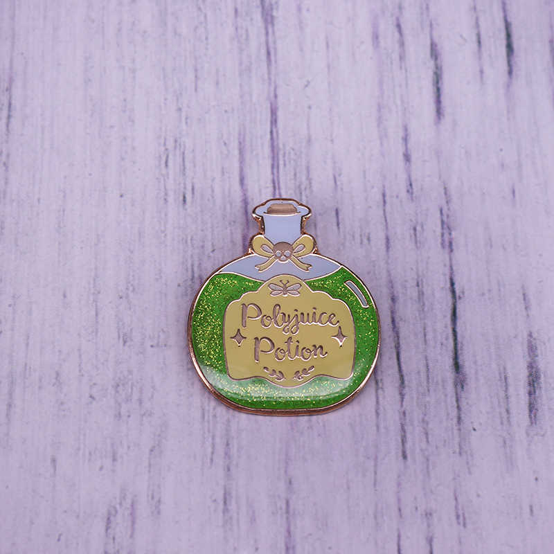 Polyjuice Potion Enamel Pin potter potions glitter เวทมนตร์เข็มกลัด pin