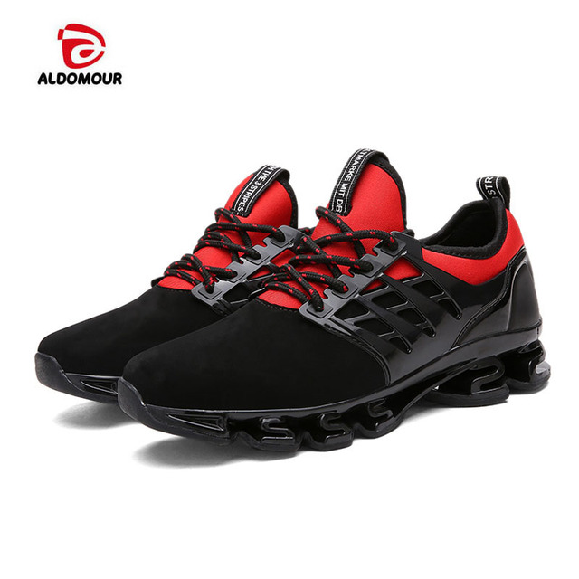 801143898d59a ALDOMOUR Super Cool Breathable Running Shoes Men Sneakers Bounce Summer  Outdoor Sport Shoes Professional Training Shoes