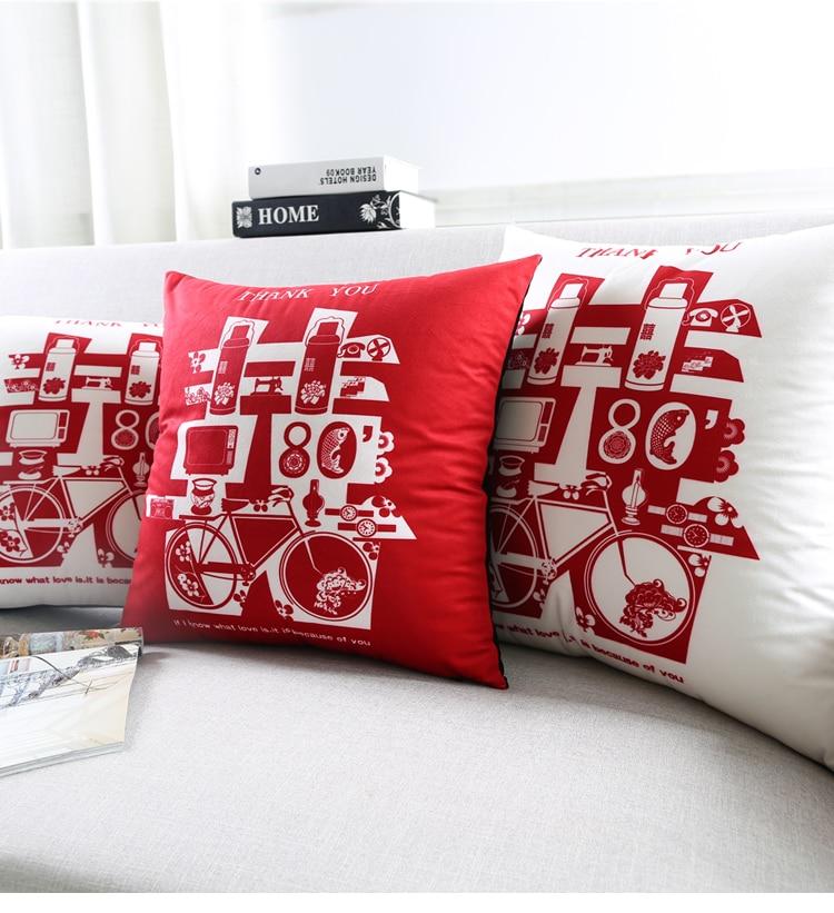 Us 1259 10 Offneue Orientalische Chinesische Hochzeit Geschenk Samt Paar Kissen Fall Abdeckung Set Lustige Hochzeit Kissen Abdeckung Weiß Rot Sofa