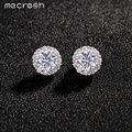 Mecresh AAA Tiny CZ Gold Plated Wedding Jewelry Accessories Flower Stud Earrings For Women EH552