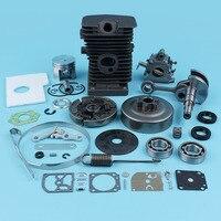 38mm Cylinder Carburetor Crankshaft Clutch Drum Bearings For STIHL 017 018 MS170 MS180 Chainsaw Chain Brake Kit Oil Seals Carb