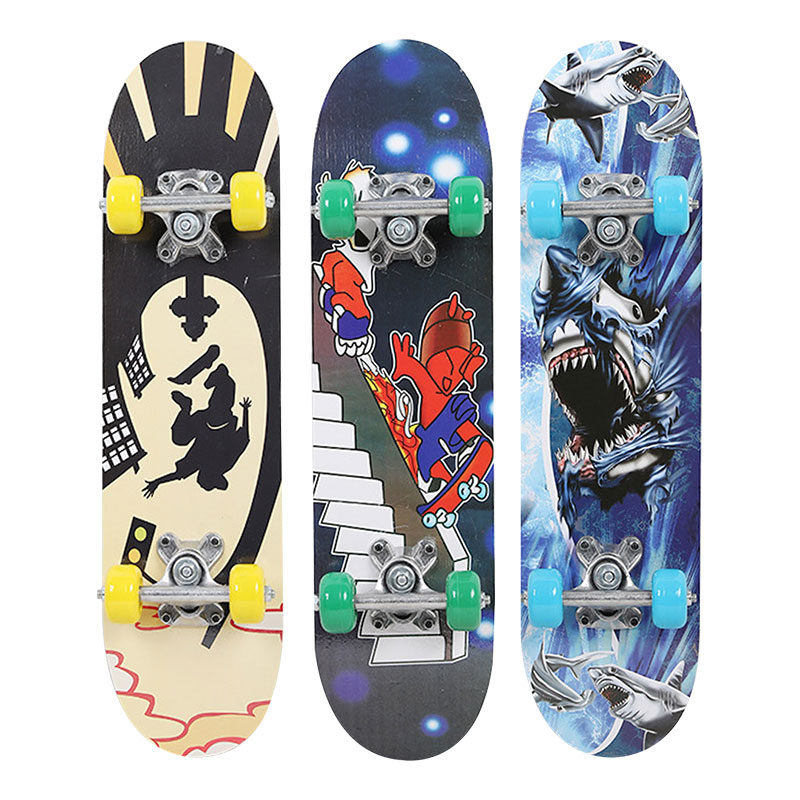 Deck Hand Painted Skateboard Single Rocker Skate Board Popular Maple Wood  Pulley Wheel Longboard Skate Board Extreme Sports