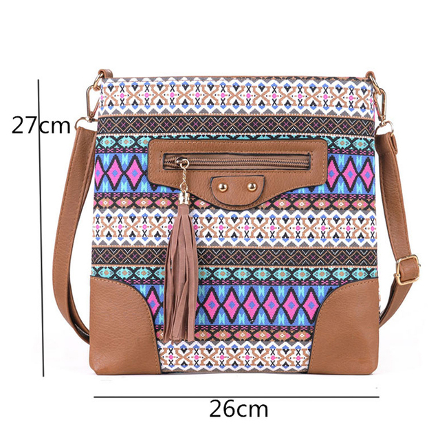 Fashion Women Canvas Sling Bags Messenger Bags Crossbody Flap Tassel Bag Handbags Designer Shoulder Bags 2