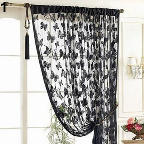 Butterfly Pattern Tassel String Door Curtain Window Room Divider Tassel Screen