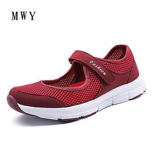 Image 3 - MWY zapatos informales para mujer, zapatillas planas, transpirables de malla, ligeras, diseñador de marca, para primavera y verano