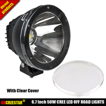 9150970 6.7″ Inch 50W Round Cannon LED Driving Lights 12V 24V Black Spot Beam 15 Degree Narrow Beam 4×4 LED Light Cannon x1pc