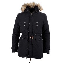 Mens New Winter Warm Fleece Parka Dreadnought Trench Jacket Duffle Coat MFb13 – Black L