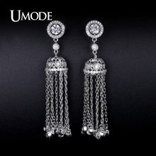 UMODE Simulated Diamond Dangle Earrings For Women Jewelry Fashion 2016 New Hot CZ Pendientes Mujer Moda Christmas Gifts AUE0241
