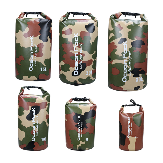 b17c80f3c4 2L 5L 10L 15L 20L 30L Outdoor Floating Boating Camping Roll Top Compression Waterproof  Dry Bag Sack Pack River Trekking Bags