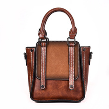 ICEV new retro korean style top handle bag ladies matte leat