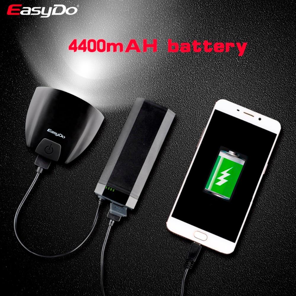 Велосипед EASYDO головной передний светодиодный свет Смарт индукция STVZO K mark USB 10 Вт лампа светодиодный 4400 мАч power Bank для наружного велоспорта EL 1112 - 4