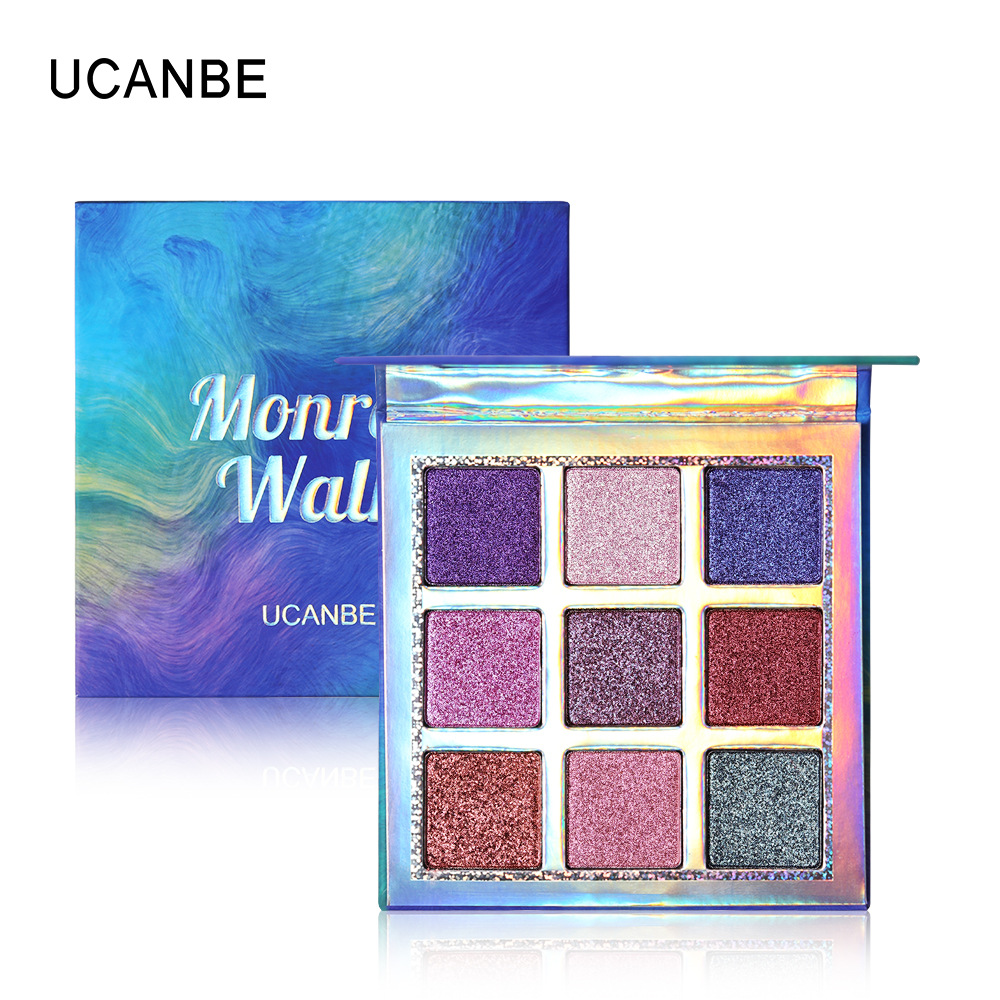 Ucanbe 9 Colors Eyeshadow Palette Gold Blue Mermaid Polar Pigment Waterproof Long Lasting Shimmer Matte Eyeshadow Power Au044 Reliable Performance Eye Shadow
