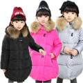 2016 Real Promotion Long Winter Jacket 3-12y Baby Girls Winter Coat Korean Padded Zipper Kids Jacket Coats Outwear For Children