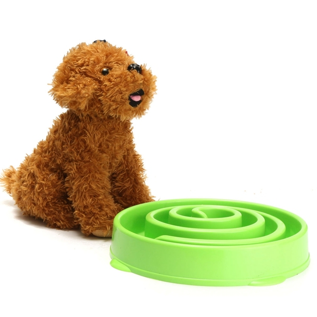 Pet Dog Cat Interactive Slow Food Feeder Bowl Puppy Anti Slip Gulp Feeder Healthy Bloat Dish For Pet Feeding Tools 1Pc 4