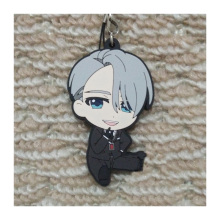 Anime Keychain Yuri!!! on Ice Victor Nikiforov Judges Of Skating kulcstarto Keychian Phone Strap Pendant llavero