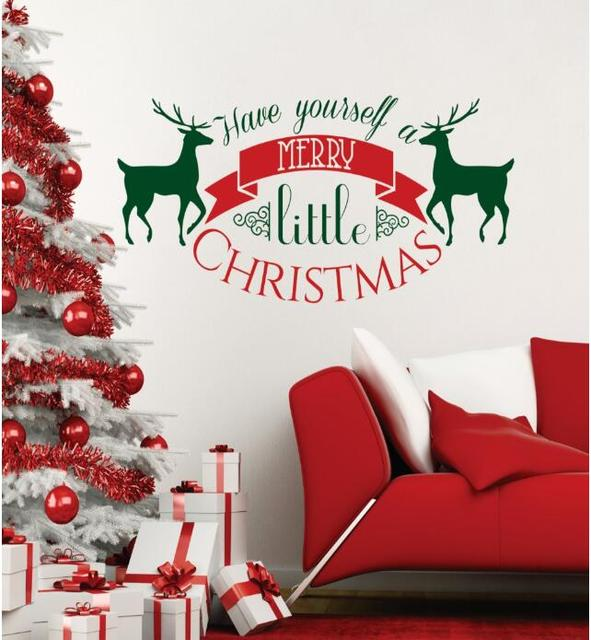 Wall Decal Vinyl Sticker Merry Christmas Have Yourself a Merry ...